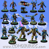 Undead - Complete Team of 16 Players - Willy Miniatures