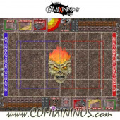 34 mm Undead Plastic Gaming Mat with BB7 and Crossed Dugouts - Comixininos