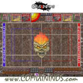 34 mm Undead Plastic Gaming Mat with BB7 and Parallel Dugouts - Comixininos