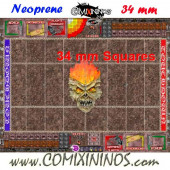 Undead Neoprene Mousepad Pitch of 34 mm Squares WITH Dugouts - Comixininos