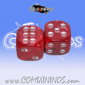 Undead Pips Dice - Red