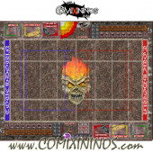 29 mm Undead Plastic Gaming Mat with BB7 and Crossed Dugouts - Comixininos