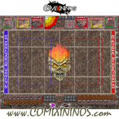29 mm Undead Plastic Gaming Mat with BB7 and Parallel Dugouts - Comixininos