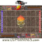 29 mm Undead Plastic Gaming Mat with Crossed Dugouts - Comixininos