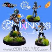 Undead - Poncho Undead Skeleton - Meiko Miniatures