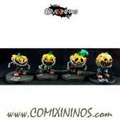 Necromantic - Set B  of 4 Pumkins of Halloween Hellraisers - Labmasu