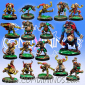 Underworld - Complete Team of 17 Players with Troll and Gutter Runner - Meiko Miniatures