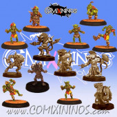 Underworld - Team of 13 Players without Troll - Uscarl Miniatures