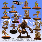 Underworld - Team of 14 Players with Troll - Uscarl Miniatures