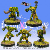Underworld / Goblins - Set B of 5 Mutated Goblins - Goblin Guild