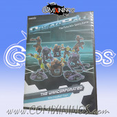 Dreadball - Unincorporated Rebs Team of 8 Players and 2 Prone Figures - Mantic Games