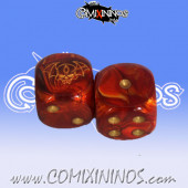 Set of 2d6 Vampire Dice - Willy