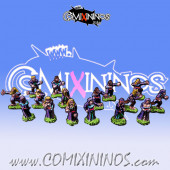 Magnetic Vampire Team of 16 Players for Mini-BB