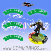 Set of 4 Green Very Long Legs Puzzle Skills for 32 mm Bases - Comixininos