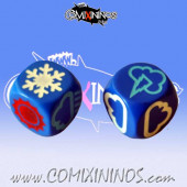 Set of 2 Meiko Weather Dice - Blue