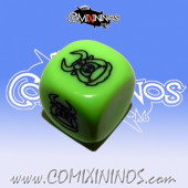 Wild Animal nº 2 Skill Dice Green Color - Akaro