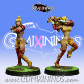 Amazons - Set of 2 Amazon Throwers - Willy Miniatures