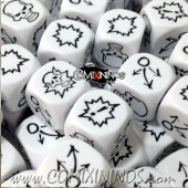 Set of 3 White Block Dice - Willy Miniatures
