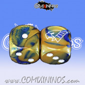 Set of 2d6 Human Dice - Willy