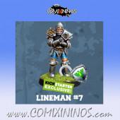 Humans - Discontinued Human Lineman nº 7 Exclusive Kickstarter - Willy Miniatures