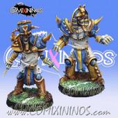 Egyptian - Set of 2 Skeleton Blitz-Ras - Willy Miniatures
