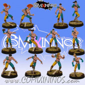 Wood Elves - Basic Forest Elf Team of 12 Players - SP Miniaturas