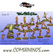 Wood Elves - Complete Team of 16 Players with Treeman - Fanath Arts