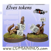 Set of 2 Elven Squirrel Tokens - Fanath Arts