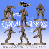 Wood Elves / Elves - Set of 6 Elf Linemen - Willy Miniatures