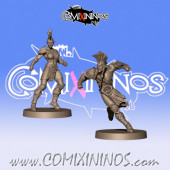 Wood Elves / Elves - Set of 2 Wardancers - Willy Miniatures