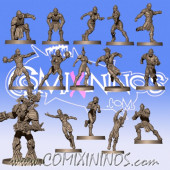 Wood Elves - Wood Elf Team of 15 Players with Treeman - Willy Miniatures