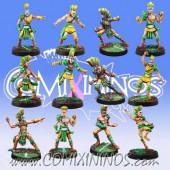 Wood Elves - Team of 12 Players - Meiko Miniatures