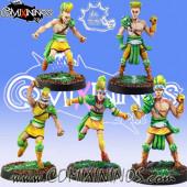Wood Elves / Elves - Set of 5 Elf Linemen - Meiko Miniatures