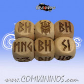 1d6 Meiko Norse Injury Dice Standard Size 16 mm - Wooden