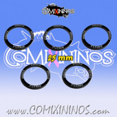 Set of 5 Wrestle Skill Rings for 25 mm Bases - Comixininos