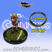 Set of 5 Wrestle Skill Rings for 32 mm Bases - Comixininos