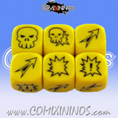 Set of 3 Meiko Block Dice - Yellow