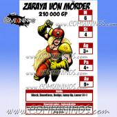 Zaraya Von Mörder - Laminated Star Player Card